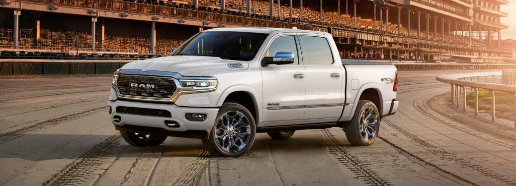 2019 RAM 1500 Limited white side view