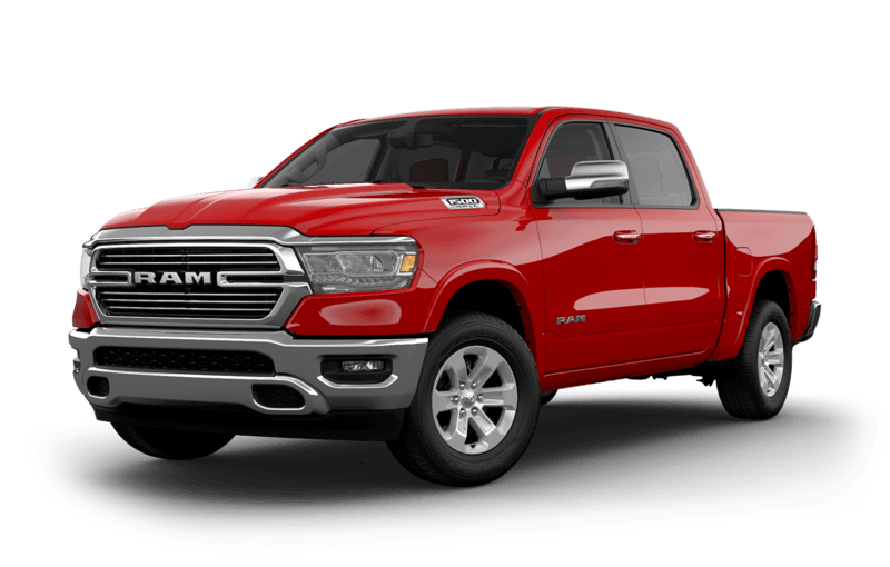 2019 RAM 1500 Flame Red side view