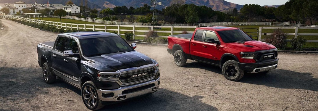 What colours are the 2019 RAM 1500 available in?