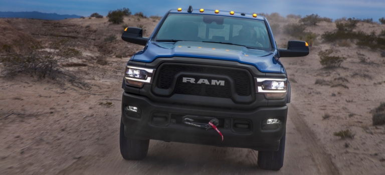 2019 RAM Heavy Duty blue front view