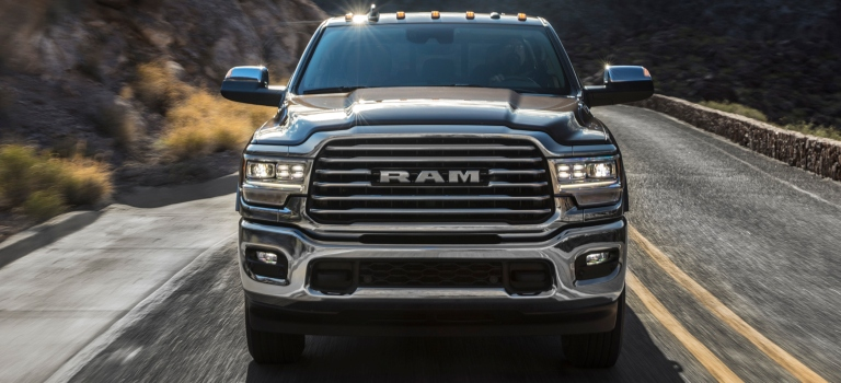2019 RAM Heavy Duty chrome grille close up