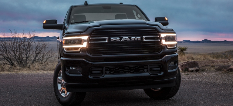 2019 RAM Heavy Duty dark grille close up