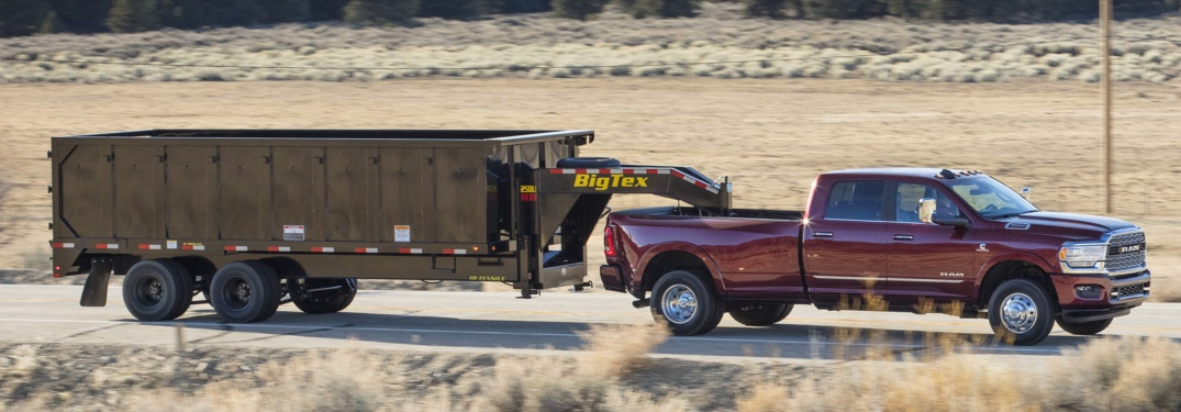 Max towing and payload for the 2019 RAM 2500 and 3500