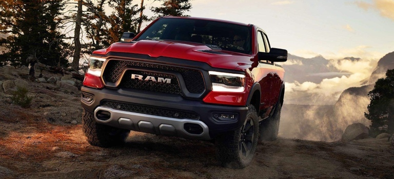 2019 RAM 1500 red front view