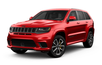 2019 Jeep Grand Cherokee red side view