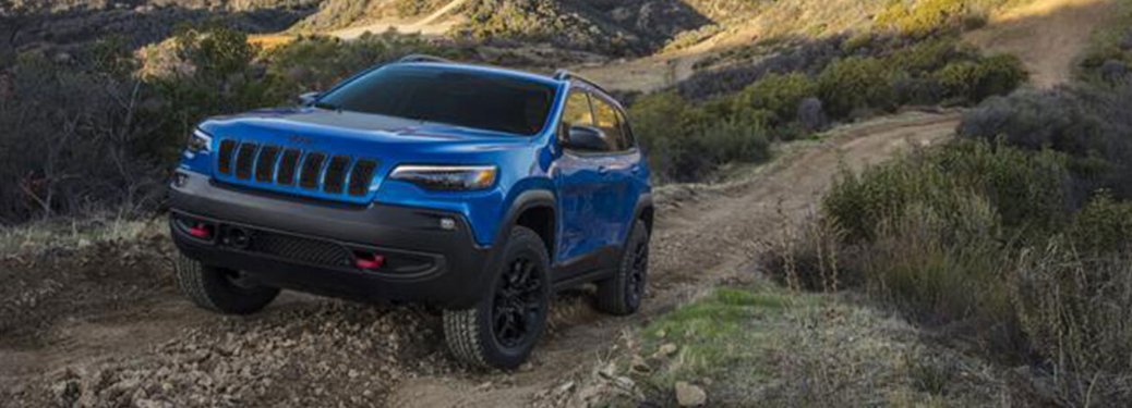 2020 Jeep Cherokee driving on rough terrain