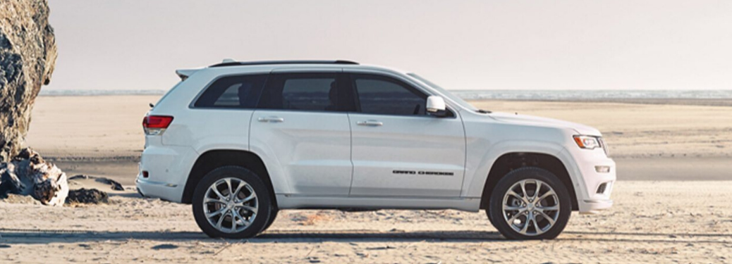 2020 Jeep Grand Cherokee parked on the sand