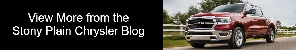 View More from the Stony Plain Chrysler Blog title and a red 2020 RAM 1500