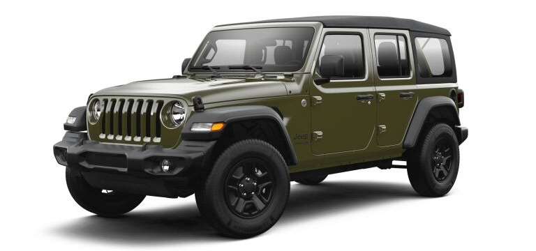 2021 Jeep Wrangler Sarge Green color