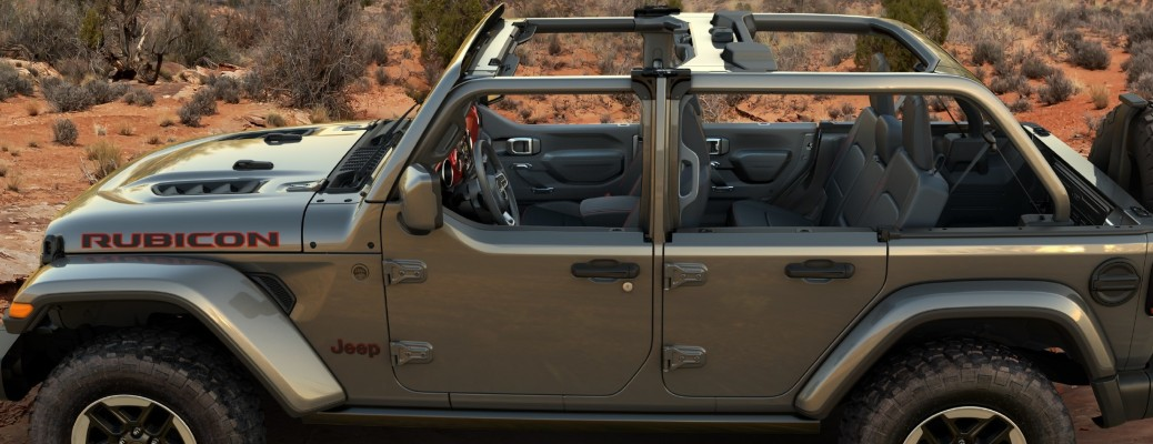 Side view of the new doors on the 2021 Jeep Wrangler
