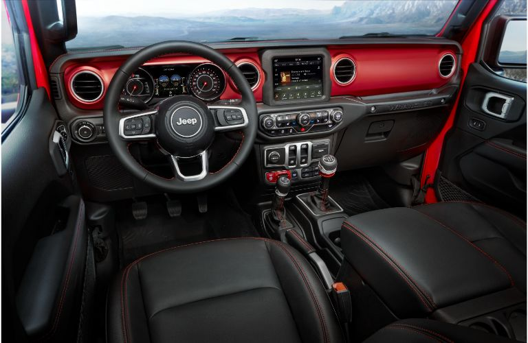 Interior view of the 2021 Jeep Wrangler