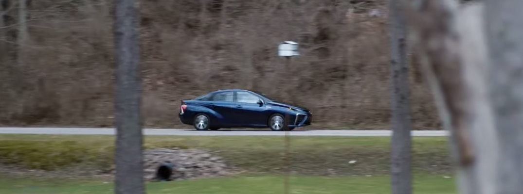 Toyota Mirai ad shows the availability of hydrogen as fuel
