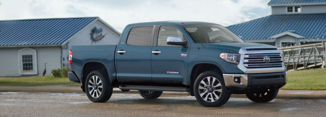 2019 Tundra exterior front fascia and passenger side parked in front of house