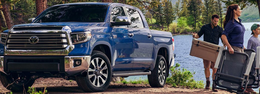 2020 Toyota Tundra parked by water