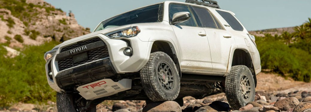 2020 Toyota 4Runner driving over rocks
