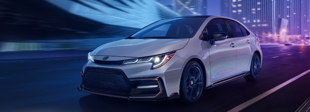 2021 Toyota Corolla driving on a road
