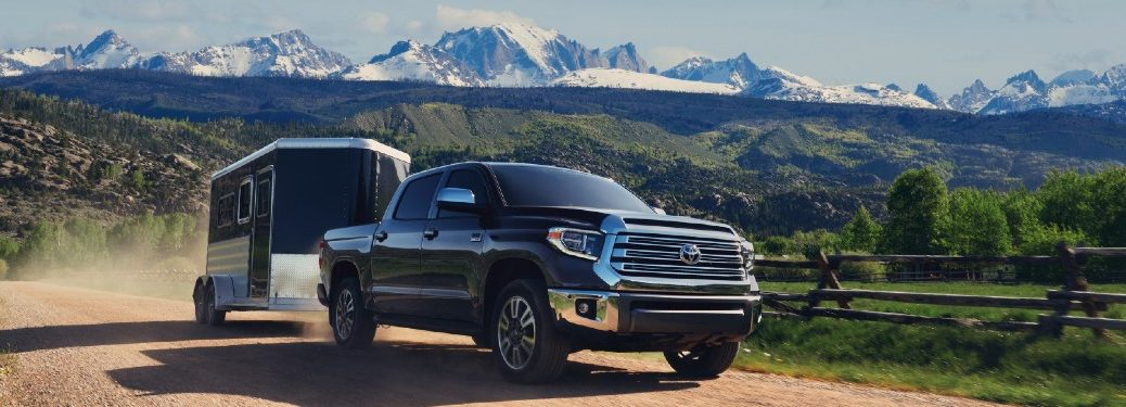 2021 Toyota Tundra towing a trailer