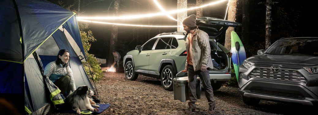 2021 Toyota RAV4 parked at a campsite