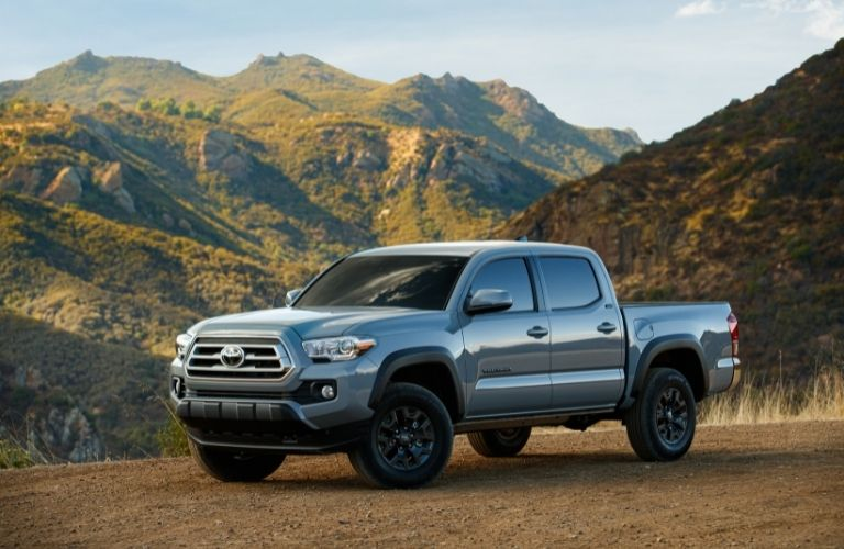 2021 Toyota Tacoma in a hilly backdrop