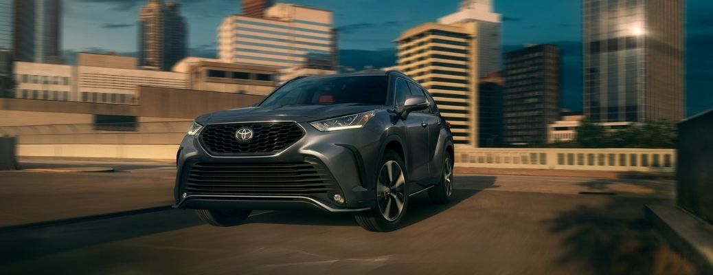 2021 Toyota Highlander parked in a city