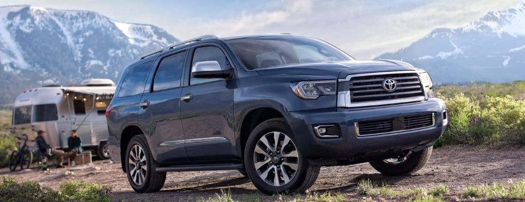 2022 Toyota Sequoia side and front look