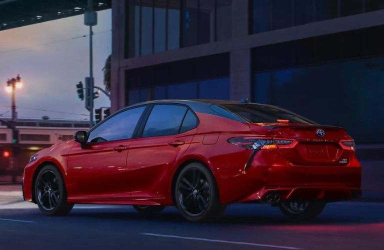 2022 Toyota Camry side and back view