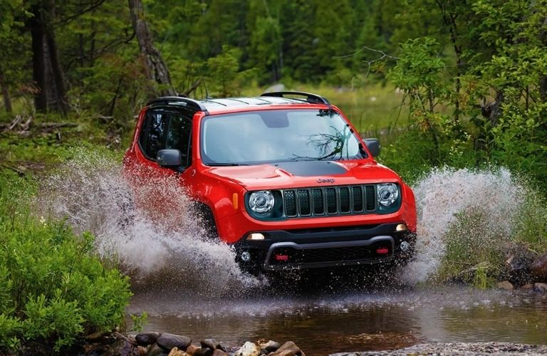 Jeep Renegade on Water