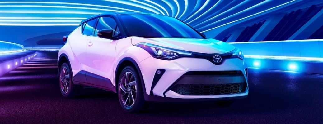 2021 Toyota CH-R side and front view