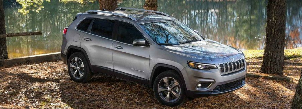 2019 Jeep Cherokee parked in forest
