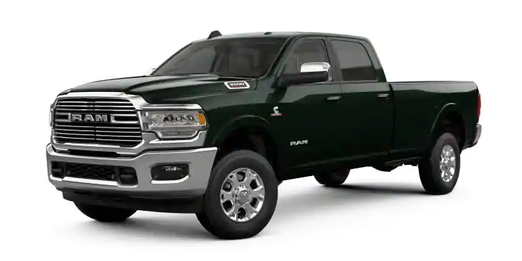 2019 Ram 3500 Black Forest Green Pearl-Coat
