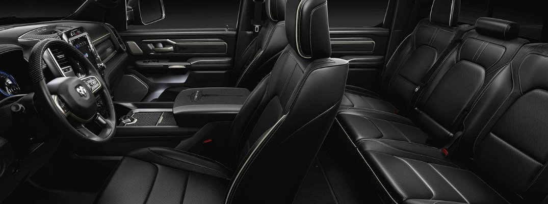 What are the Upholstery Options for the 2019 Ram Truck Models?