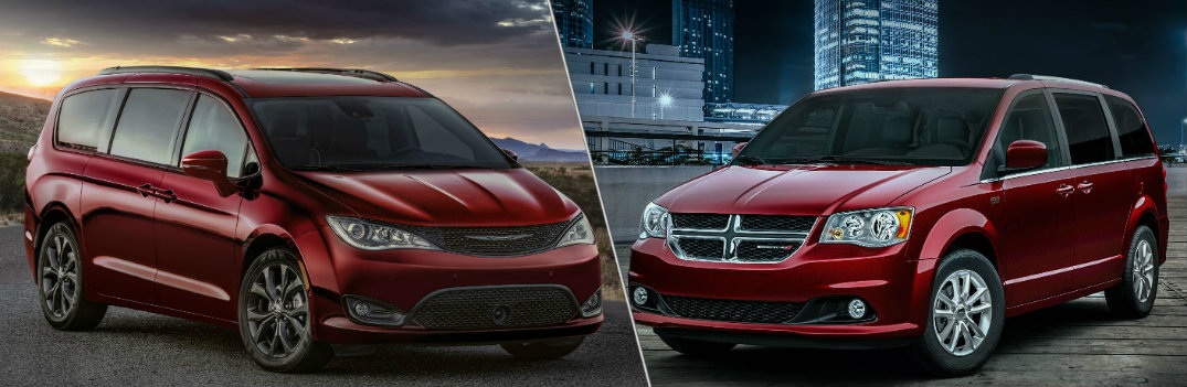 What are the Differences Between the 2019 Chrysler Pacifica and Dodge Grand Caravan Models?