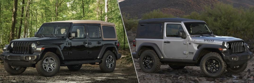 What's Included in the 2020 Jeep Wrangler Black & Tan and Willys Editions?