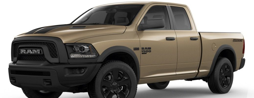 2019 Ram 1500 Classic Warlock edition trim with Mojave Sand Package debut showcase press release photo
