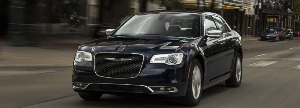 front view of a black 2020 Chrysler 300