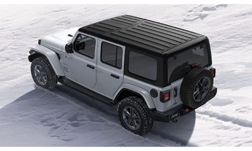 2020 Jeep Wrangler North Edition exterior overhead shot of Hard Top roof