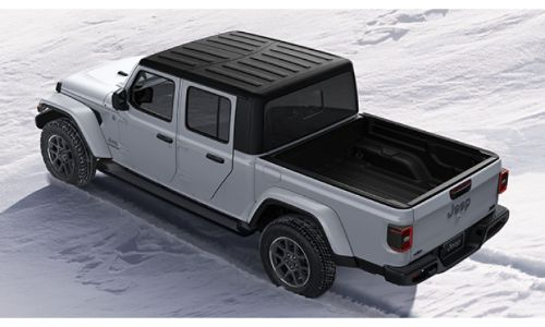 2020 Jeep Gladiator North Edition exterior overhead shot of Hard Top roof