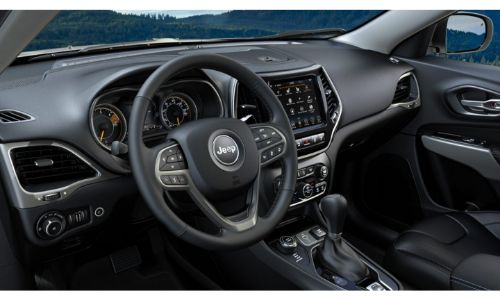2020 Jeep Compass interior steering wheel and dashboard