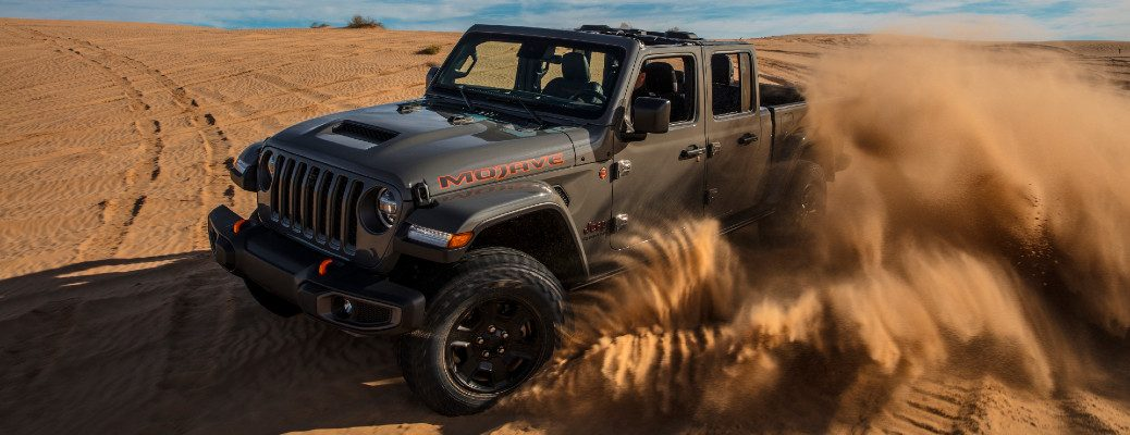 2020 Jeep Gladiator Mojave off-road pickup desert rated driving on sand dunes
