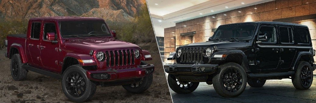 2020 Jeep Gladiator and 2020 Jeep Wrangler High Altitude models