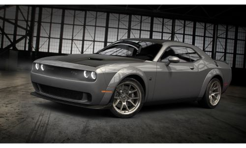 2020 Dodge Challenger 50th Anniversary Commemorative Edition in Smoke Show color option front exterior shot
