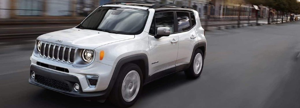 2021 Jeep Renegade driving on a road