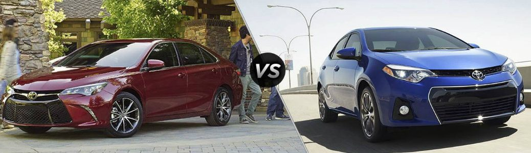 How does the Toyota Camry compare to the Corolla?