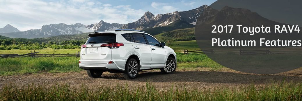 What features does the 2017 Toyota RAV4 Platinum have?