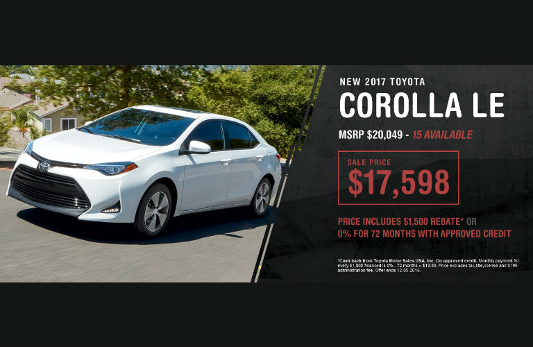 2017 Toyota Corolla Black Friday Sale St. Louis