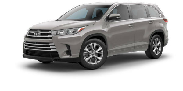 Side view of 2017 Toyota Highlander in Celestial Silver Metallic
