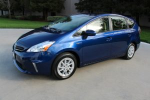 2014 Prius v shown in blue