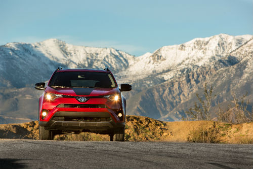 2018 Toyota RAV4 Adventure shown in red