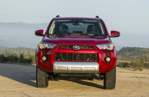 2018 Toyota 4Runner front fascia in red