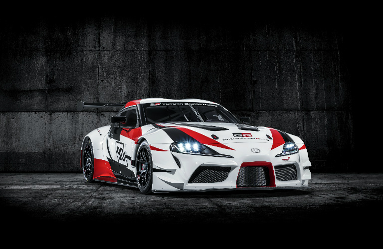 Toyota GR Supra Racing concept front exterior and headlights